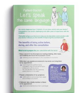 """Cover of the """"Patient-Doctor: Let's speak the same language"""" brochure in English"""