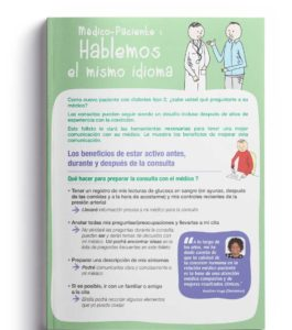 """Cover of the """"Patient-Doctor: Let's speak the same language"""" brochure in Spanish"""