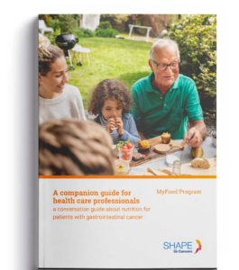 Cover of My Food brochure for health care professionals